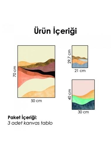 Artikel Soyut -2 Kanvas Tablo Seti Renkli